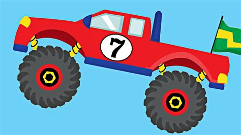monster truck for children monster trucks teaching numbers 1 to 10 number counting