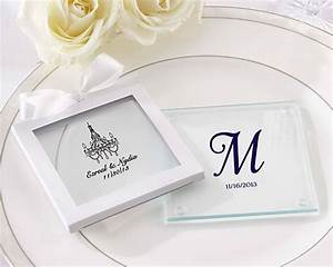 personalized glass coaster set of 12 wedding favors With glass coasters wedding favors