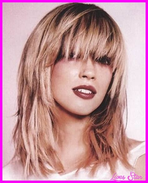 haircuts with layers and side bangs medium length haircuts with side swept bangs and layers