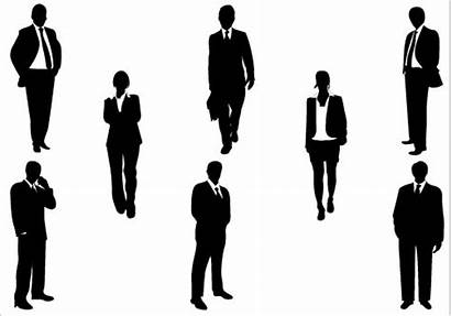 Business Clip Clipart Silhouette Silhouettes Cliparts Vector