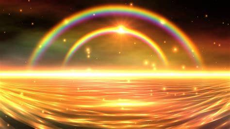 4k Colorful Double Rainbow Falling Snow 3d Sunset Uhd Hd