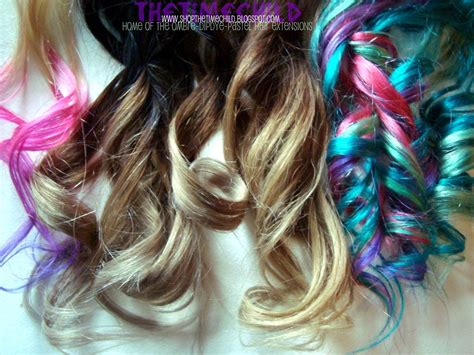 Thetimechild Ombre Dip Dye Rainbow And Pastel Hair Extensions