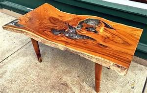 Resin Wood Table A Rectangular Coffee Table Made From