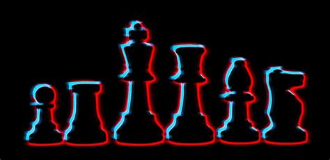 neon chess pieces mixed media by dan sproul