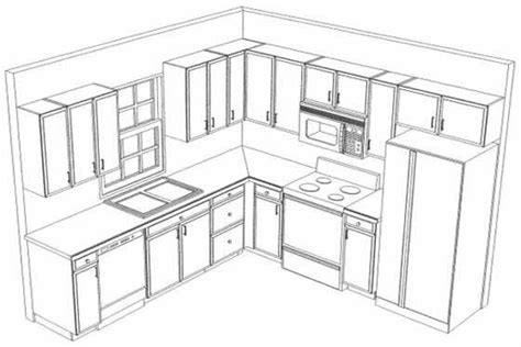 sketch kitchen design kitchen layout drawing pencil and in color 2288