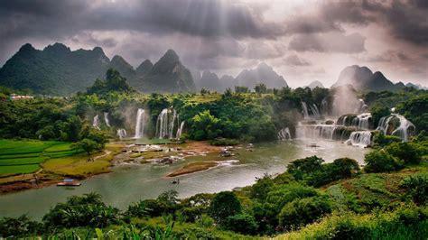 detian waterfall daxin county guangxi china desktop