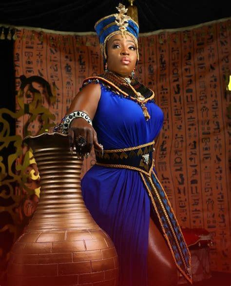 anita joseph dresses like an egyptian to celebrate her birthday celebrities nigeria