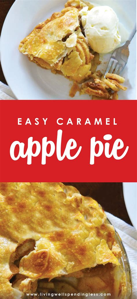This is easy apple pie like mum used to make, with large pieces of bramley apple enclosed in rich shortcrust pastry. Easy Caramel Apple Pie | The BEST Easy Apple Pie Recipe