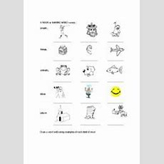 English Worksheets Naming Words, Nouns
