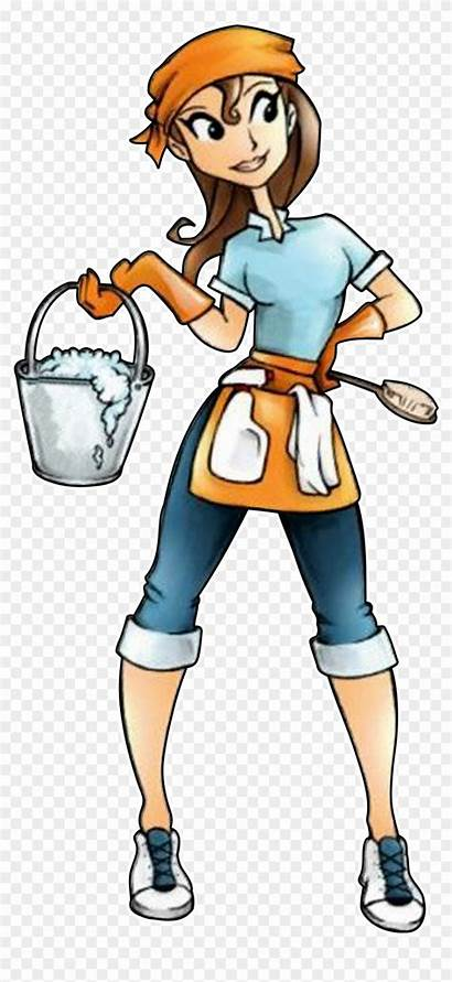 Cleaning Clip Lady Services Laundry Jays Clipart