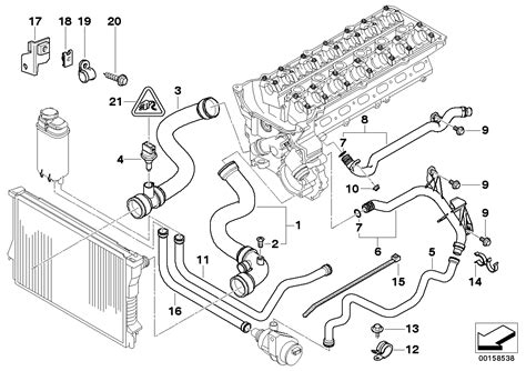 2001 Bmw 325i Engine Component Diagram by Realoem Bmw Parts Catalog