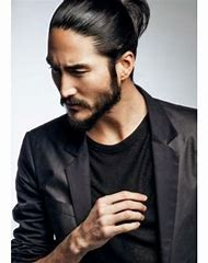 Asian Man with Long Hair