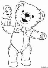 Coloring Pages Pandy Andy Puppet Teddy sketch template