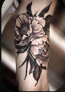 black ink flower tattoo by Alice Kendall - Design of ...