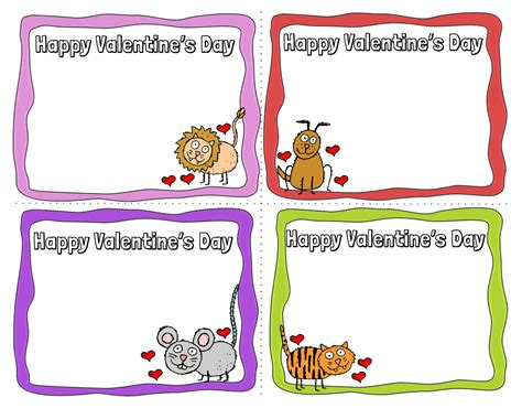 animal valentines day cards   printable cards