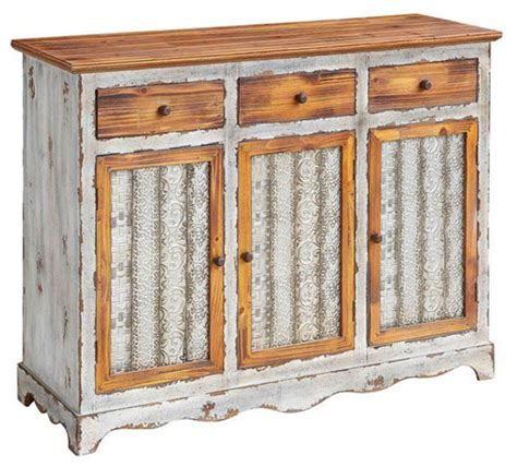 Farmhouse Sideboards And Buffets by Stafford Metal And Wood 3 Drawer 3 Door Sideboard