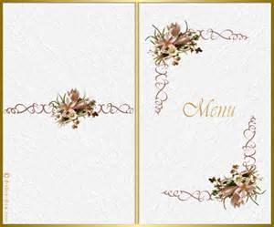 menu mariage a imprimer carte menu pourmunion imprimer gratuite carterie cartes