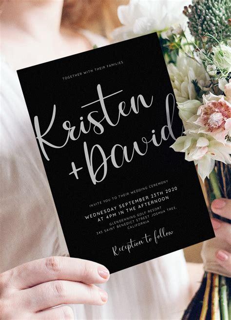 Download Printable Black and Silver Wedding Invitation