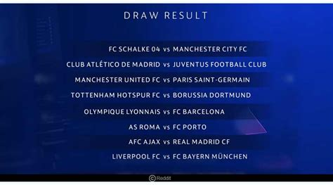 Champions League round of 16 Results | Juventus ...