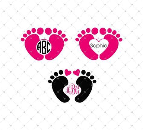 svg cut files  cricut  silhouette baby feet monogram frames files svg cut studio