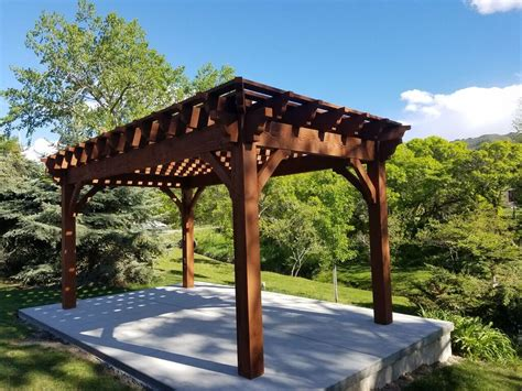 rich sequoia shadescape diy pergola kit install western timber frame