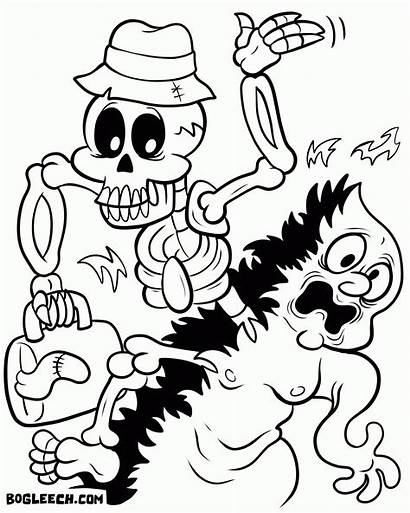 Coloring Pages Party Boston Tea Halloween Colouring