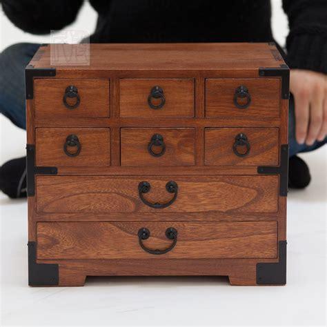 japanese style jewelry box hand   solid kiri wood