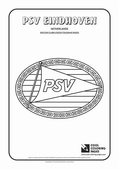 Coloring Pages Cool Psv Soccer Logos Eindhoven