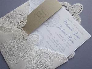 vintage wedding invitation lace doily and rustic With wedding invitations with lace doilies