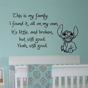 vinyl wall decals quotes lilo and stitch this is my family With awesome lilo and stitch wall decals