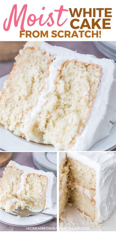 moist white cake  scream  buttercream