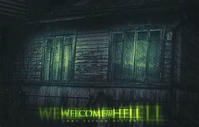 Dark Hell Windows Welcome Window Horror Trees