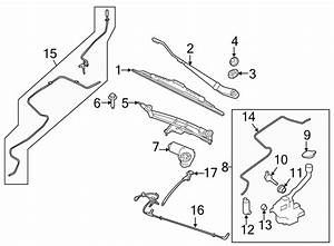 Lincoln Town Car Back Glass Wiper Blade  Blade Assembly