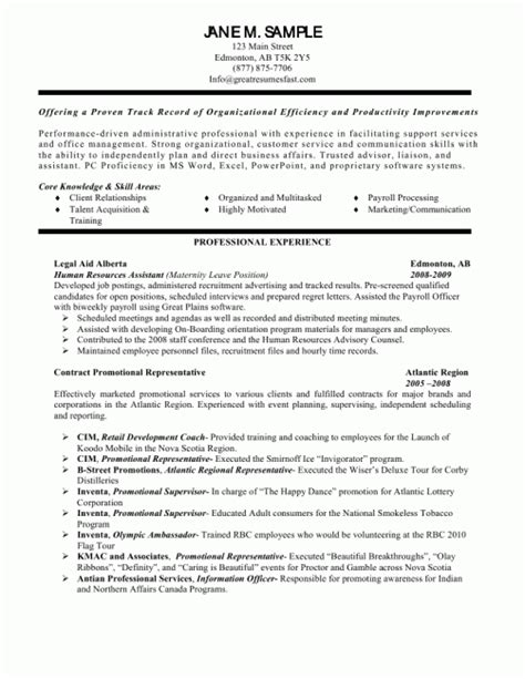 Personal Assistant Objectives Exles by Personal Assistant Resume Summary Resume Sle Resume