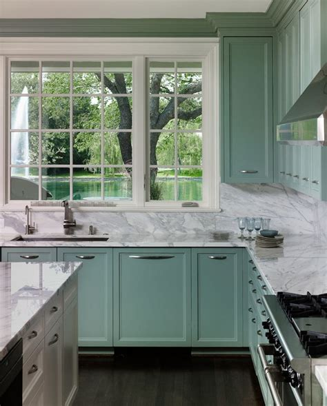 turquoise and green kitchen allen kirsch associates green ish turquoise cabinets 6398