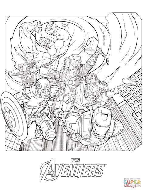 marvel avengers coloring page free printable coloring pages