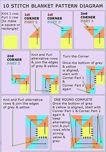 10 Stitch Blanket Pattern Diagram