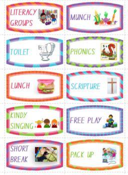 kindergarten visual schedule  smith martine teachers