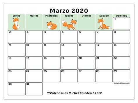 foto de Calendario marzo 2020 49LD Michel Zbinden ES