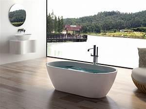 Moderne Freistehende Badewannen : freistehende badewanne montecristo aus mineralguss wei matt oder gl nzend 160x80x54 oval ~ Sanjose-hotels-ca.com Haus und Dekorationen