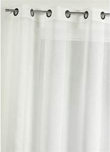 Kit Rayure Vitrage : voilage en tamine uni avec rayures ton sur ton achat ~ Premium-room.com Idées de Décoration