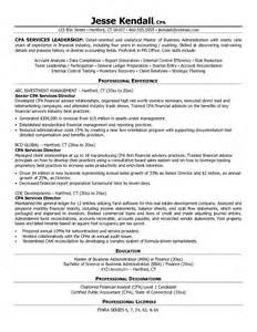 cpa credential on resume free certified accountant cpa services director resume exle