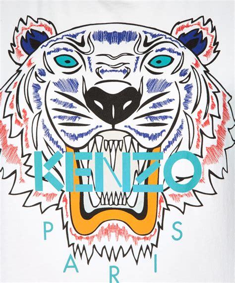 Lyst - Kenzo White Cotton Tiger Tshirt in White for Men