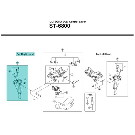 shimano ultegra st6800 y00e98010 lever assembly