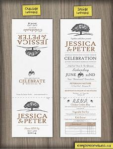 custom oaktree wedding invitations canada empire invites With tri fold wedding invitations canada