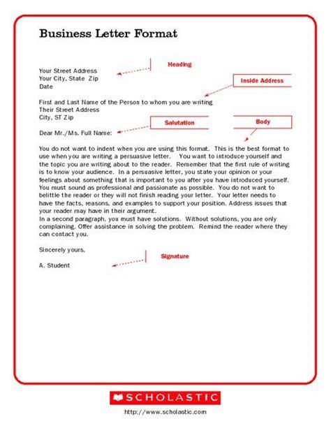 business letter format screenshot school business