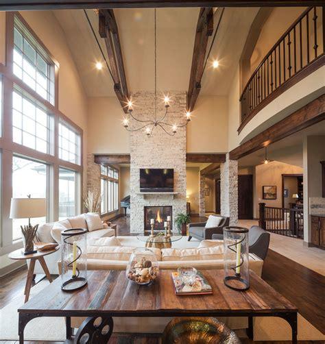 model home starr homes llc rustic living room