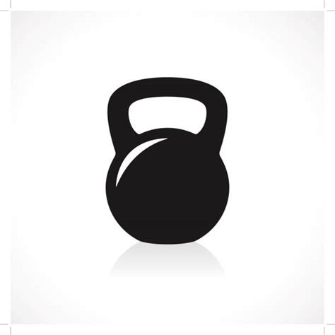 kettlebell clip vector kettle bell clipart icon illustration illustrations crossfit vectors barbell weight dumbbell graphics weights fitness royalty gograph background