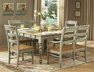 Hand Distressed Seafoam Green Finish Dinette Table WOptions