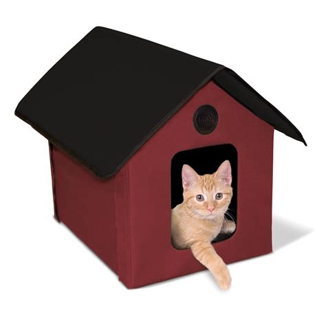 The Cat House by K H Outdoor House Heated Cat House Shelter Bed